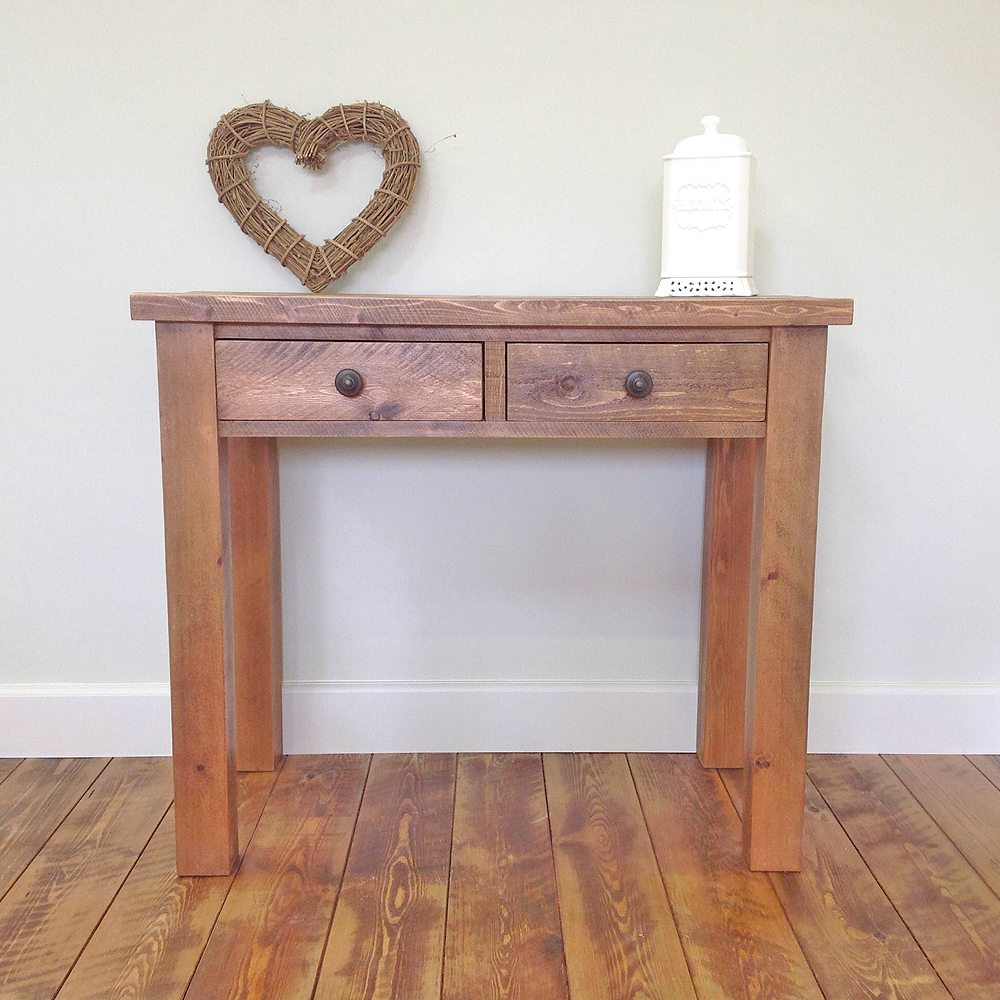rustic-side-table-2-drawers