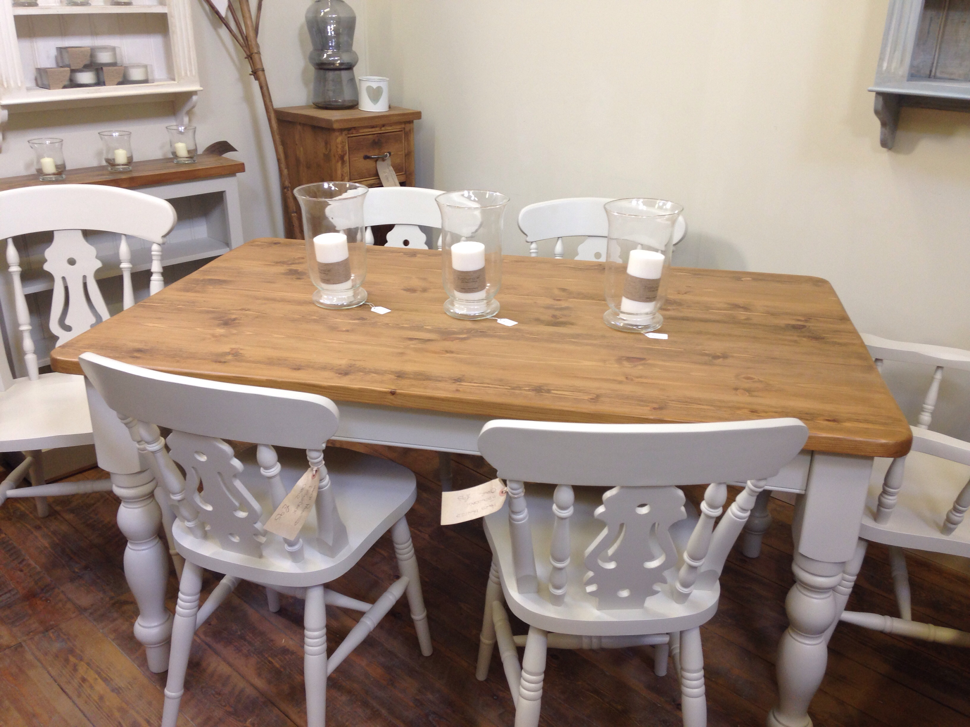 Farmhouse Dining Table Chairs Wolds Furniture Company