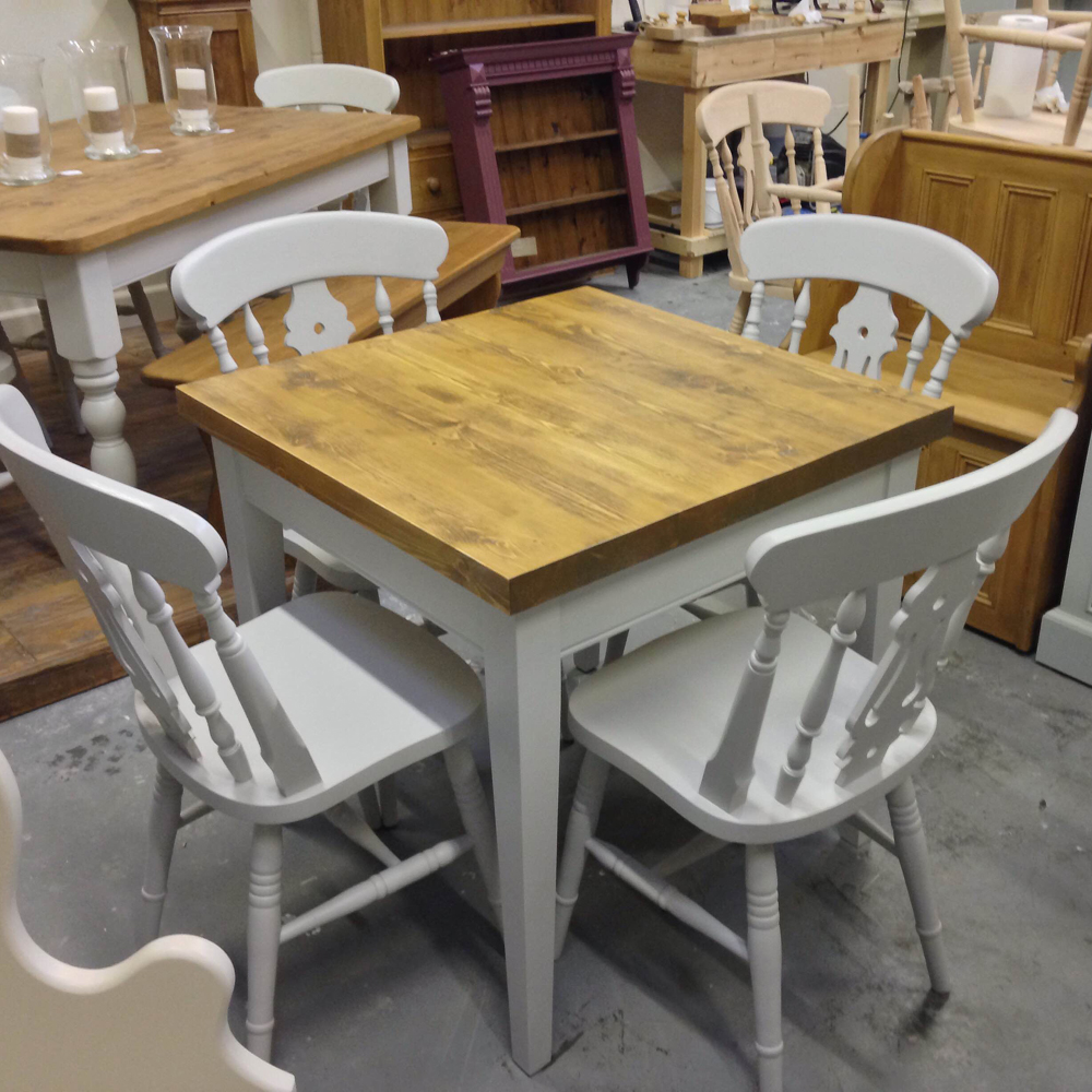 square-table-rustic-pine-top