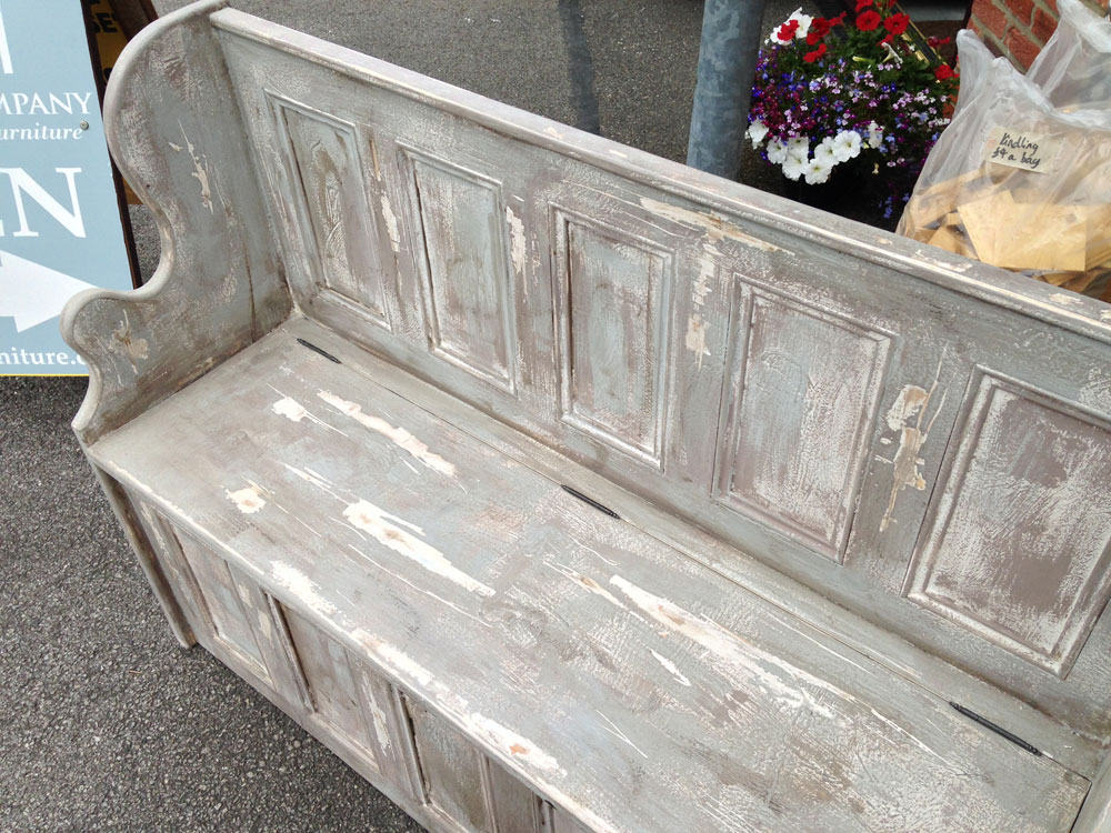 Distressed Monks Bench Wolds Furniture Company